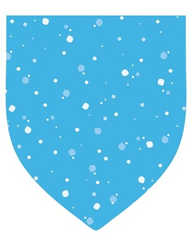 """Winter Color Pennants with Snowflakes - 20-Pack - 8.5"""" x 11"""""""