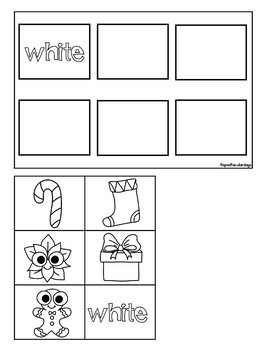 Winter Color Sort - File Folder and Worksheets