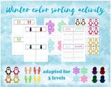 Winter Color Sort bundle (3 levels) - snowmen,penguins, sn