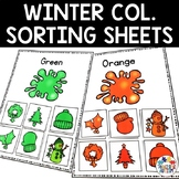 Winter Color Sorting Cards Colour