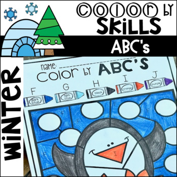 Winter Color by Code ABC's (Uppercase and Lowercase)