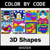 Winter Color by Code - 3D Shapes