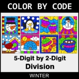Winter Color by Code - 5-Digit by 2-Digit Division