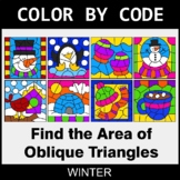 Winter Color by Code - Area of Oblique Triangles