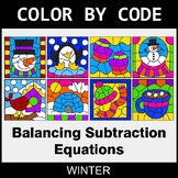 Winter Color by Code - Balancing Subtraction Equations