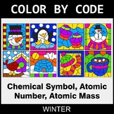 Winter Color by Code - Chemical Symbol, Atomic Number, Ato