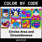 Winter Color by Code - Circles Area & Circumference