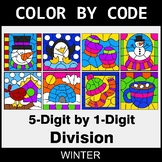 Winter Color by Code - Division: 5-Digit by 1-Digit