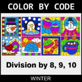 Winter Color by Code - Division by 8,9,10