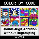 Winter Color by Code - Double-Digit Addition without Regrouping