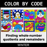 Winter Color by Code - Find Whole-Number Quotients and Remainders