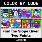 Winter Color by Code - Find the Slope Given Two Points