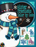 Winter Color by Code Fractions/Equivalent Fractions