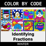 Winter Color by Code - Identifying Fractions