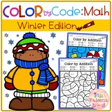 Winter Color by Code – Math (Color by Number, Addition, Subtraction)