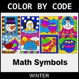Winter Color by Code - Math Symbols