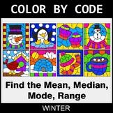 Winter Color by Code - Mean, Median, Mode, Range