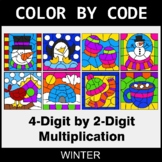 Winter Color by Code - Multiplication: 4-Digit by 2-Digit