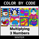 Winter Color by Code - Multiplying 3 Numbers
