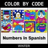 Winter Color by Code - Numbers in Spanish