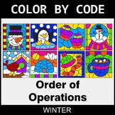 Winter Color by Code - Order of Operations