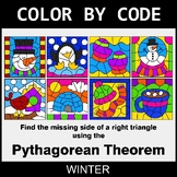Winter Color by Code - Pythagorean Theorem