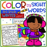 Winter Color by Code -Sight Words Third Grade