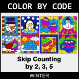 Winter Color by Code - Skip Counting by 2, 3, 5