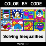 Winter Color by Code - Solving Inequalities with Addition