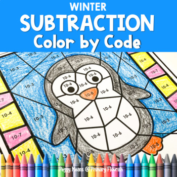 Winter   Color-by-Code Subtraction   Color by Number