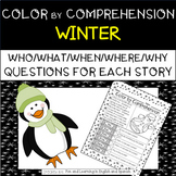 Winter (Color by Comprehension Stories and Questions) - 10 Stories