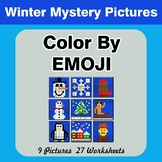 Winter: Color by Emoji - Mystery Pictures