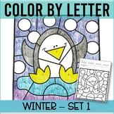 Winter Color by Letter Kindergarten letter recognition wor