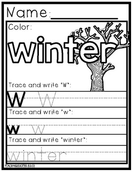 COLOR BY WINTER LETTERS AND NUMBERS
