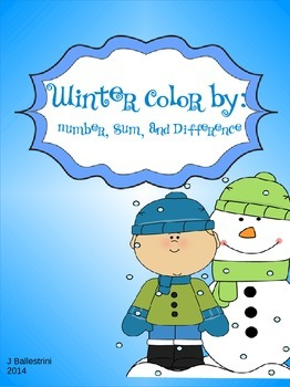 Winter Color by Math Fact Freebie
