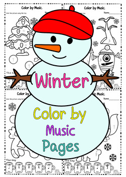 Winter Color by Music Pages