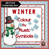 Winter Colour by Music Symbols British Terminology
