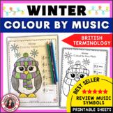 Winter Colour by Music Symbols British Terminology