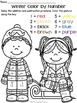 Winter Color by Number ~ Addition & Subtraction Within 10