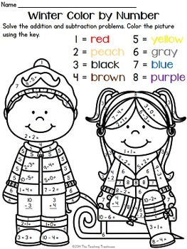 winter coloring pages math preschool-#20