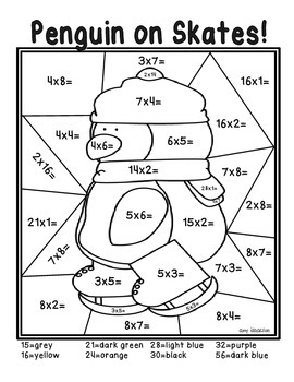 winter coloring pages math fractions - photo#3