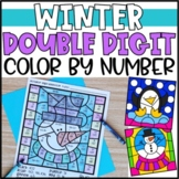 Color by Number Winter Mystery Pictures: Double Digit Addition & Subtraction