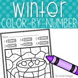 Winter Color-by-Number Pages