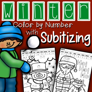 Winter Color by Number: Subitizing