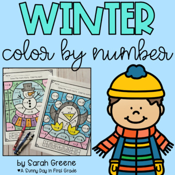 Winter Color by Number (addition to 10 and 20)