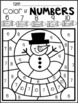 Winter Color by Numbers 1-10 Activities