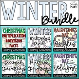 Winter Color by Numbers: Grades 4-5