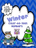 Winter Color-by-Numbers: Teen Numbers