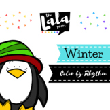 Winter Color by Rhythm - Musical Coloring Sheets