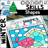Winter Color by Code Shapes